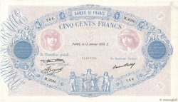 500 Francs BLEU ET ROSE FRANCE  1933 F.30.36 pr.TTB