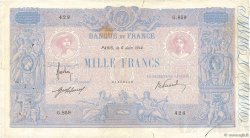 1000 Francs BLEU ET ROSE FRANCE  1914 F.36.28 pr.TB