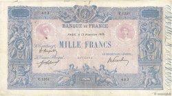 1000 Francs BLEU ET ROSE FRANCE  1919 F.36.34 TB