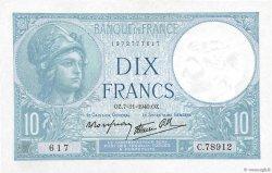 10 Francs MINERVE modifié FRANCE  1940 F.07.19 pr.SPL