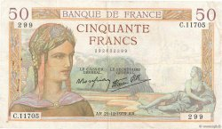 50 Francs CÉRÈS modifié FRANCE  1939 F.18.36 pr.TTB