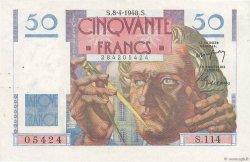 50 Francs LE VERRIER FRANCE  1948 F.20.10 TTB+