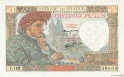 50 Francs JACQUES CŒUR FRANCE  1941 F.19.17 SPL