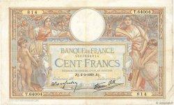 100 Francs LUC OLIVIER MERSON type modifié FRANCE  1939 F.25.41 pr.TTB