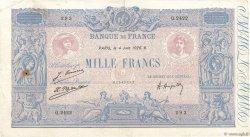 1000 Francs BLEU ET ROSE FRANCE  1926 F.36.42 TB