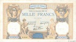 1000 Francs CÉRÈS ET MERCURE type modifié FRANCE  1939 F.38.38 TB+