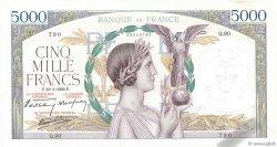 5000 Francs VICTOIRE Impression à plat FRANCE  1939 F.46.02 TTB