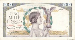 5000 Francs VICTOIRE Impression à plat FRANCE  1939 F.46.07 TB