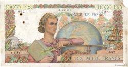 10000 Francs GÉNIE FRANÇAIS FRANCE  1951 F.50.55 B+