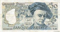 50 Francs QUENTIN DE LA TOUR FRANCE  1984 F.67.10 TTB