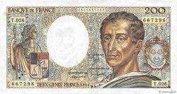 200 Francs MONTESQUIEU FRANCE  1984 F.70.04 SUP