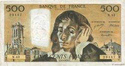 500 Francs PASCAL FRANCE  1974 F.71.11 TB