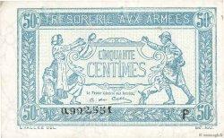 50 Centimes TRÉSORERIE AUX ARMÉES FRANCE  1917 VF.01.16 TTB+