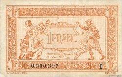 1 Franc TRÉSORERIE AUX ARMÉES FRANCE  1917 VF.03.04 pr.TTB