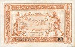 1 Franc TRÉSORERIE AUX ARMÉES FRANCE  1917 VF.03.14 TTB