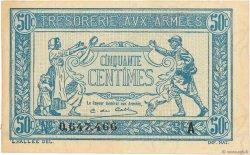 50 Centimes TRÉSORERIE AUX ARMÉES FRANCE  1917 VF.01.01 SUP