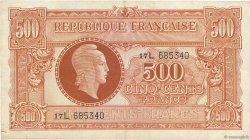 500 Francs MARIANNE FRANCE  1945 VF.11.01 pr.TTB