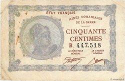 50 Centimes MINES DOMANIALES DE LA SARRE FRANCE  1919 VF.50.02 TB