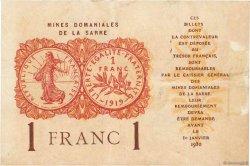 1 Franc MINES DOMANIALES DE LA SARRE FRANCE  1919 VF.51.01 pr.TTB