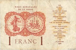 1 Franc MINES DOMANIALES DE LA SARRE FRANCE  1919 VF.51.02 TB