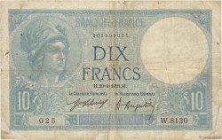 10 Francs MINERVE FRANCE  1921 F.06.05 pr.TB