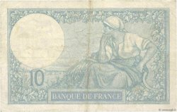 10 Francs MINERVE FRANCE  1923 F.06.07 pr.TTB