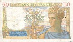 50 Francs CÉRÈS FRANCE  1937 F.17.37 pr.TTB