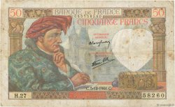 50 Francs JACQUES CŒUR FRANCE  1940 F.19.04 pr.TB