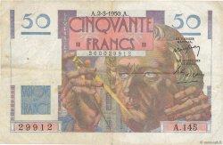 50 Francs LE VERRIER FRANCE  1950 F.20.14 pr.TTB