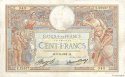 100 Francs LUC OLIVIER MERSON grands cartouches FRANCE  1936 F.24.15 pr.TTB
