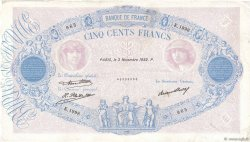 500 Francs BLEU ET ROSE FRANCE  1932 F.30.35 pr.TTB