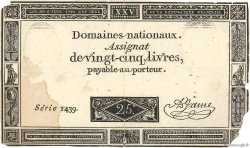 25 Livres FRANCE  1793 Ass.43a TB