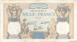 1000 Francs CÉRÈS ET MERCURE type modifié FRANCE  1940 F.38.49 TB