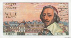1000 Francs RICHELIEU FRANCE  1955 F.42.16 SUP+