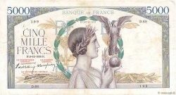 5000 Francs VICTOIRE Impression à plat FRANCE  1938 F.46.01 TB