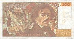 100 Francs DELACROIX imprimé en continu FRANCE  1991 F.69bis.03c2 TB