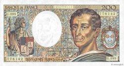 200 Francs MONTESQUIEU FRANCE  1990 F.70.10b TTB