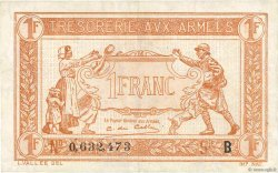 1 Franc TRÉSORERIE AUX ARMÉES FRANCE  1917 VF.03.02 TTB