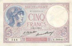 5 Francs VIOLET FRANCE  1929 F.03.13 TTB+