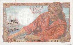 20 Francs PÊCHEUR FRANCE  1947 F.13.11 pr.SUP