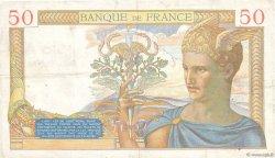 50 Francs CÉRÈS modifié FRANCE  1939 F.18.33 pr.TTB