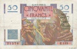 50 Francs LE VERRIER FRANCE  1949 F.20.12 TB+
