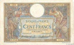 100 Francs LUC OLIVIER MERSON sans LOM FRANCE  1919 F.23.11 TB