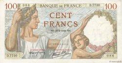 100 Francs SULLY FRANCE  1940 F.26.23 TTB+