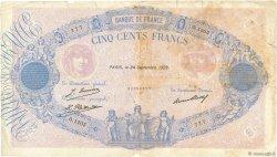 500 Francs BLEU ET ROSE FRANCE  1929 F.30.32 B