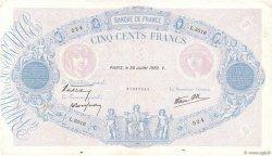 500 Francs BLEU ET ROSE modifié FRANCE  1939 F.31.37 TTB