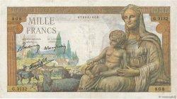 1000 Francs DÉESSE DÉMÉTER FRANCE  1943 F.40.16 TTB