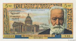5 Nouveaux Francs VICTOR HUGO FRANCE  1961 F.56.09 SUP+