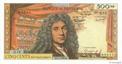 500 Nouveaux Francs MOLIÈRE FRANCE  1964 F.60.06 SUP+