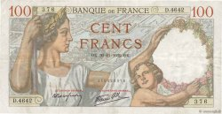 100 Francs SULLY FRANCE  1939 F.26.16 TTB